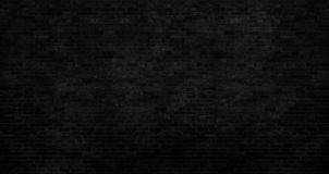 Free Dark Black Brick Wall Has A Rough Surface As A Background Image Stock Image - 153524661