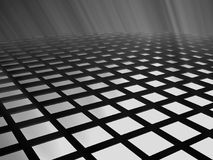 Dark black lattices and white shines. In black background Royalty Free Stock Photography