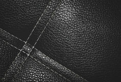 Dark black leather backgound Royalty Free Stock Photo