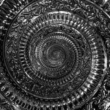 Dark black metal abstract spiral background pattern fractal. Black metallic decorative ornament element. Black metallic spiral bac. Kground twisted pattern Stock Photos