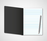 Dark black notebook Stock Image
