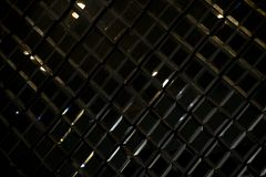 Dark black Reflective glass rhombus diamond abstract texture and background Stock Images