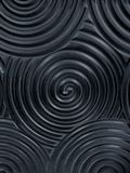 Dark black seamless texture. Wavy background. Interior wall decoration. Suitable for design Stock Photo