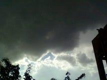 A dark black strom. Very dark strom Islamabad Stock Images
