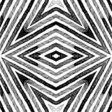 Dark black and white Geometric Watercolor. Dazzlin. G Seamless Pattern. Hand Drawn Stripes. Brush Texture. Wondrous Chevron Ornament. Fabric Cloth Swimwear stock images