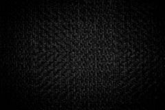 Dark black white linen canvas. The background image, texture.  royalty free stock image