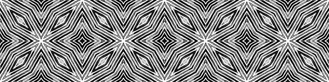 Dark black and white Seamless Border Scroll. Geome royalty free illustration