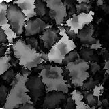 Dark black and white watercolor texture. Stock Photography