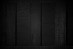Dark black wood. Stock Image