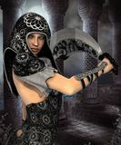 Dark Blood bound warrior Royalty Free Stock Photography