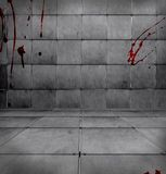 Dark Bloody Room. A dark tiled room with blood stains Royalty Free Stock Images
