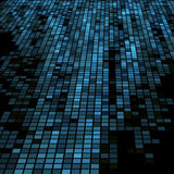 Dark blue 3D mosaic Stock Photo