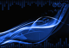 Dark blue abstract background Royalty Free Stock Images