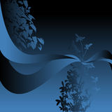 Dark blue abstract background Stock Image