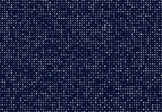 Dark blue abstract background with light circles. Geometric mosaic technology graphic element.  Royalty Free Stock Photos