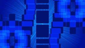 Dark blue abstract background, loop stock video footage