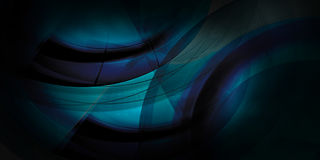 Dark blue abstract curves background Stock Images