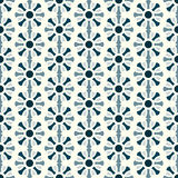 Dark Blue Abstract Flower Pattern on Pastel Background Royalty Free Stock Photo