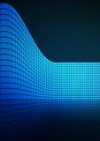 Dark Blue abstract glowing background Stock Photos