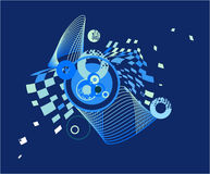 Dark blue abstract image with the circles Royalty Free Stock Photo