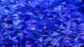 Dark blue abstract mosaic chaotic triangle pattern background - geometrical vector graphic design from triangles Stock Photography