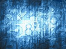 Dark blue abstract numbers Stock Photo