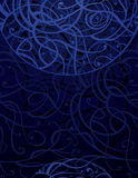 Dark Blue Abstract Ornament Background Stock Images