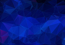 Dark blue abstract polygonal background Stock Photos