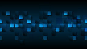 Dark blue abstract squares video animation