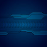 Dark blue abstract technology background Royalty Free Stock Photography