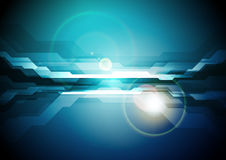 Dark blue abstract technology background Stock Photography