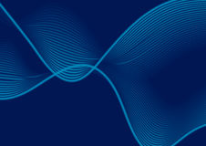 Dark blue abstract wavy lines vector background Stock Photography