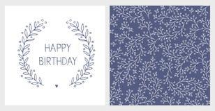 Cute Hand Drawn Birthday Vector Illustartions. Abstract Twigs Infantile Design. vector illustration