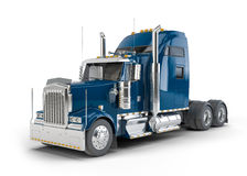 Dark blue american truck Royalty Free Stock Image