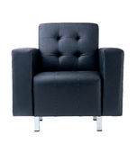 Dark blue armchair Royalty Free Stock Image