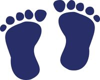 Dark blue baby feet royalty free illustration