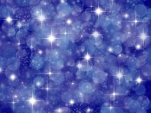 Dark blue background with boke effect and stars Stock Photo