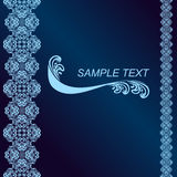 Dark blue Background decorated a blue border. Stock Photo