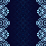 Dark blue Background decorated a blue border. Stock Image