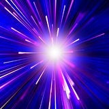 DARK BLUE BACKGROUND AN EXPLOSION OF STARS GLITTER,PINK AND WHIT. Abstract backdrop background beam beautiful background for design with bright explosion of stock illustration