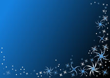 Dark blue background with flakes Royalty Free Stock Image