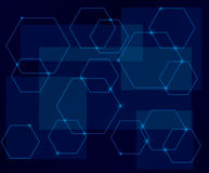 Dark blue vector background with geometric shapes Royalty Free Stock Photo