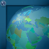 Dark blue background with globe Royalty Free Stock Photo