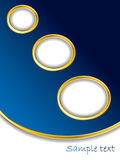 Dark blue background with gold rings Stock Photos