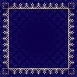 Dark blue background with ornamental frame vector Stock Photos