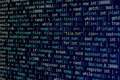 Dark blue background with program code Royalty Free Stock Photos