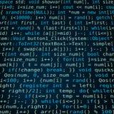 Dark blue background with program code Royalty Free Stock Image