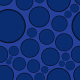 Dark blue background with round shapes, seamless Stock Photo
