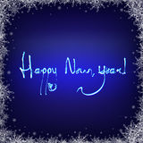 Dark Blue Background With Snowflakes Royalty Free Stock Photography