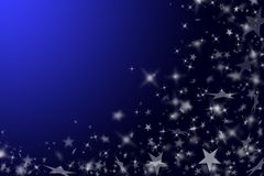 Dark blue background with stars. Stock Photo